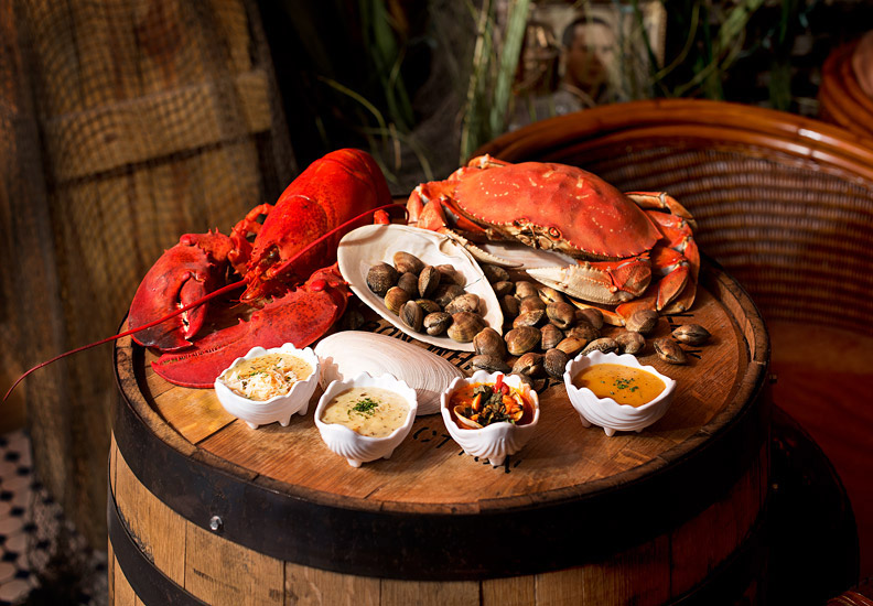 Lobster and Crab on Barrell