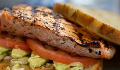 Chipotle Wild Alaska Salmon Sandwich