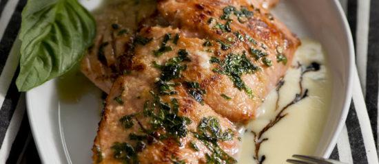 Duke's Silky, Sensual, Panseared, Wild-Alaska Salmon