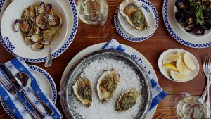 Full Table with Oysters, Mussels, and Clams