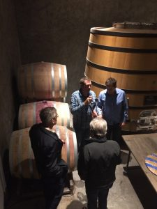Cask tasting in Va Piano's cellar