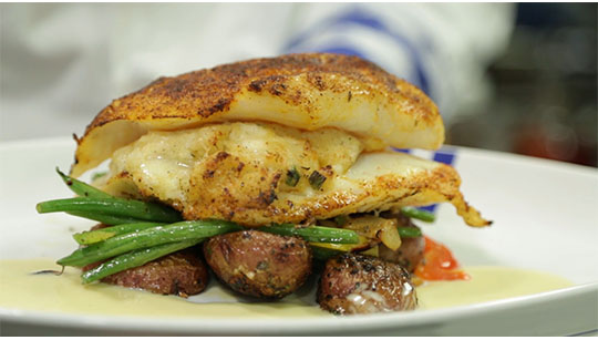 Duke's Seafood Stuffed Cod Dinner