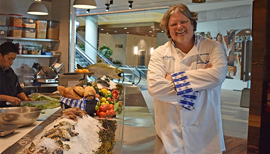 Bill Ranniger of Duke's Seafood by Oysters