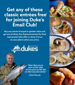 Welcome to Duke's Seafood Email Club