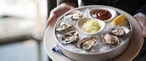 Flight of Oysters on Ice