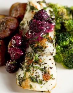 Duke's Seafood Blackberry Fields Forever Halibut