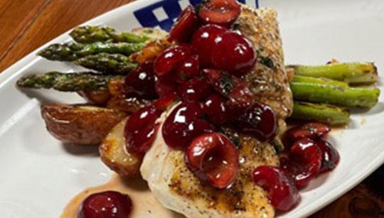 Dukes Seafood Cherry Halibut