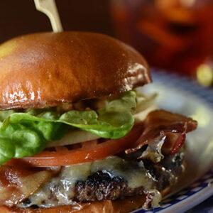 Duke's Seafood Bourbon Cheeseburger