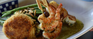 Dukes Seafood shrimp and crab cake appetizers