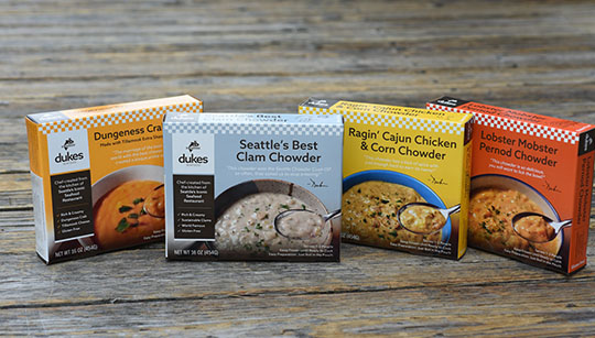 Four Boxes of Duke's Seafood Chowders